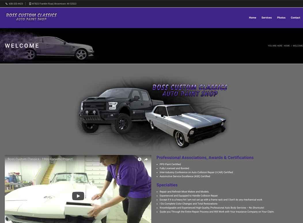Website_Design_Boss_Classics_Auto_restoration