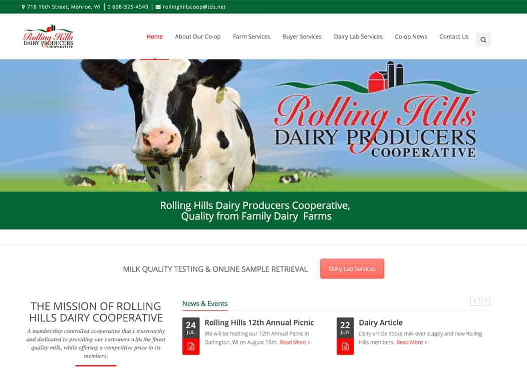 Website_Design_Rolling_Hills_Dairy_Coop