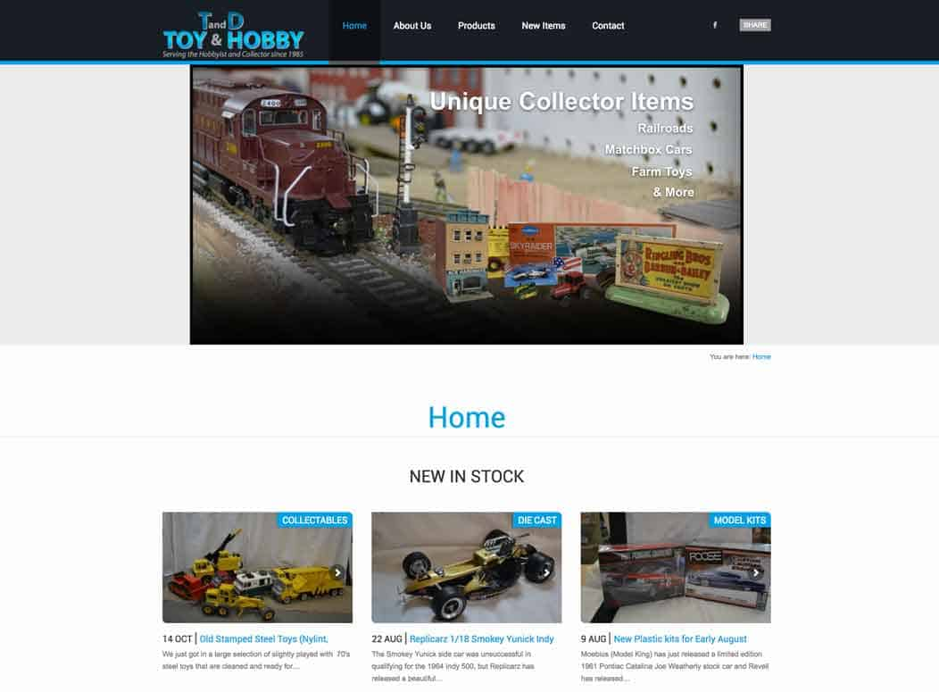 Website_Design_TD_Toys_Hobbies